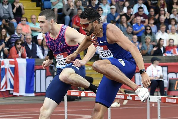 Yasmani Copello at the IAAF Diamond League meeting in Birmingham (Mark Shearman)