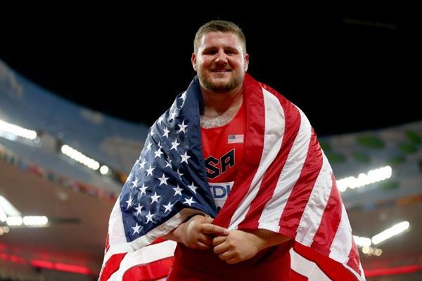 .Joe Kovacs at the IAAF World Championships, Beijing 2015 (Getty Images)