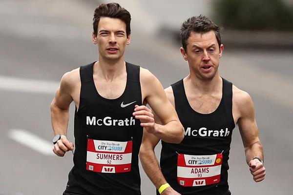 Harry Summers leads the City2Surf race in Sydney (Getty Images)