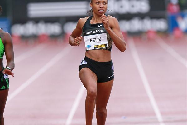 Allyson Felix takes a big win in New York (Victah Sailer)