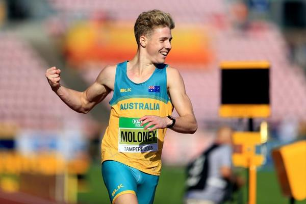 Ashley Moloney in the decathlon 400m at the IAAF World U20 Championships Tampere 2018 (Getty Images)