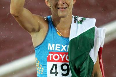 Ana Guevara of Mexico celebrates winning bronze in the women's 400m (Getty Images)