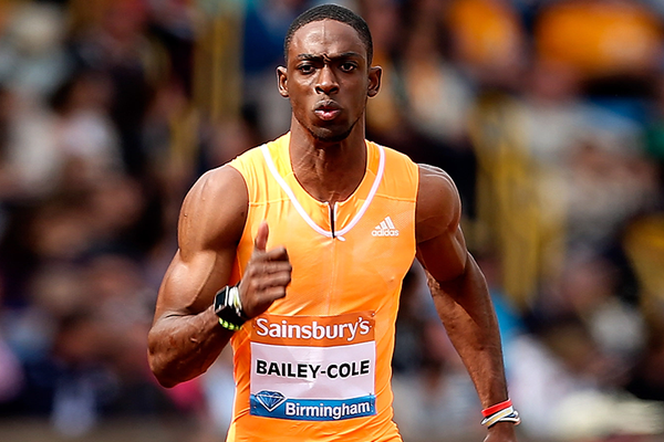 Jamaica's Kemar Bailey-Cole at the IAAF Diamond League meeting in Birmingham (Getty Images)