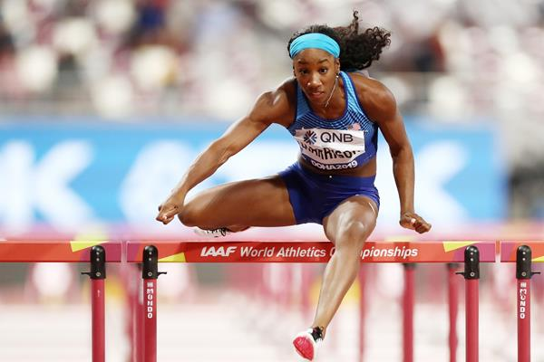 Kendra Harrison at the IAAF World Athletics Championships Doha 2019 (Getty Images)