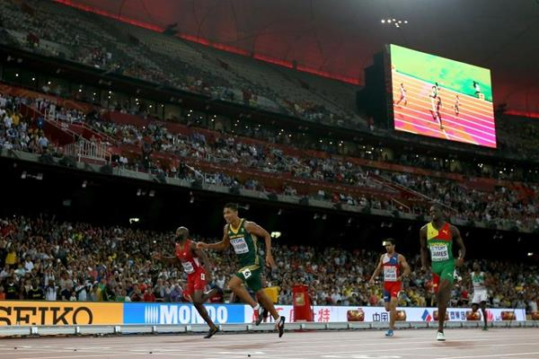 Wayde van Niekerk wins the 400m at the IAAF World Championships, Beijing 2015 (Getty Images)