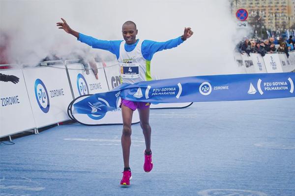 Hillary Maiyo wins the Gdynia Half Marathon (Organisers)