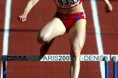 Yulia Pechonkina of Russia in action in the women's 400M heats (Getty Images)
