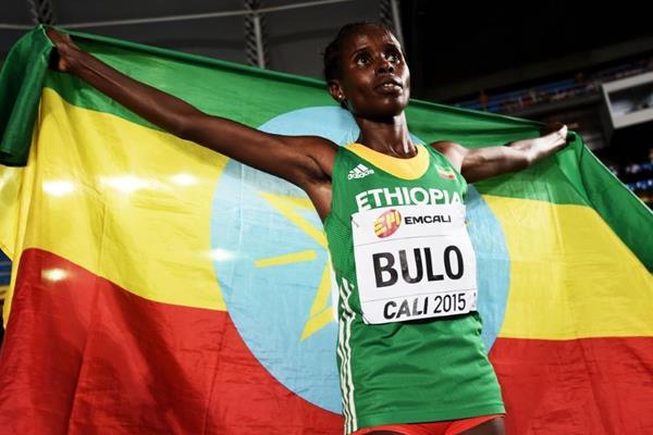 Girls' 3000m winner Shuru Bulu at the IAAF World Youth Championships, Cali 2015  (Getty Images)