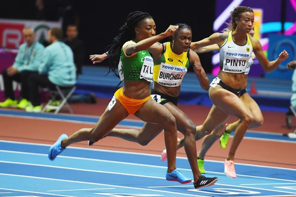 Marie-Josee Ta Lou in the 60m at the IAAF World Indoor Championships Birmingham 2018 (Getty Images)