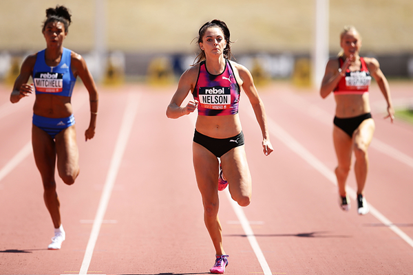Ella Nelson wins the 200m in Canberra (Getty Images)