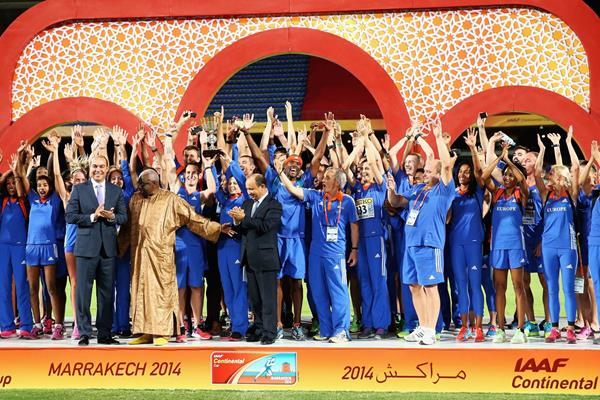 Europe win the 2014 IAAF Continental Cup (Getty Images)