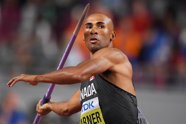 Damian Warner in the decathlon at the IAAF World Athletics Championships Doha 2019 (Getty Images)