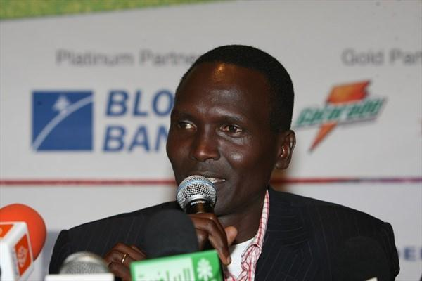 Paul Tergat at the pre-race press conference in Beirut (Blom Beirut Marathon organisers)