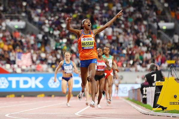 Sifan Hassan takes the 1500m title in Doha - IAAF World Athletics Championships Doha 2019 (Getty Images)