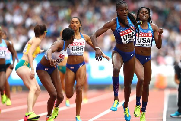 Shakima Wimbley in the 4x400m at the IAAF World Championships London 2017 (Getty Images)