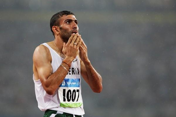 Nabil Madi of Algeria, the surprise winner of the third 800m semi final (Getty Images)
