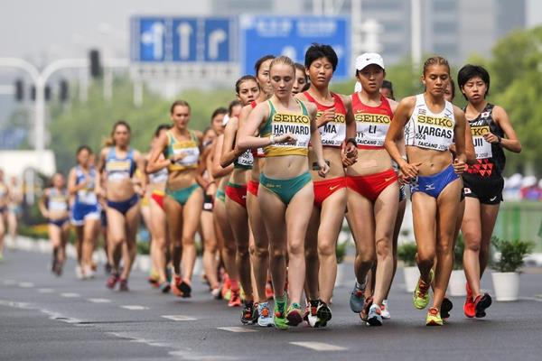 The U20 women's 10km race walk at the IAAF World Race Walking Team Championships Taicang 2018 (Getty Images)