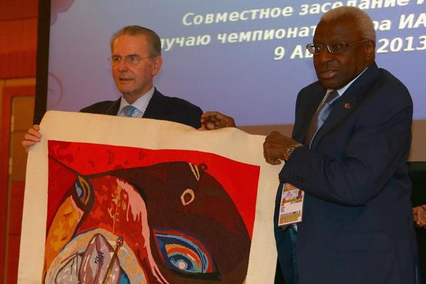 IOC President Jacques Rogge and IAAF President Lamine Diack (Getty Images)