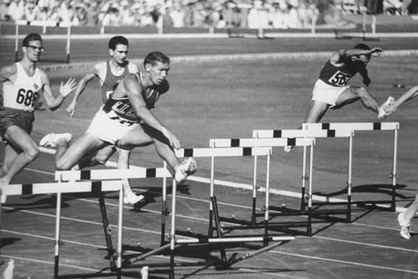 Glenn Davis (USA) competing in the 1960 Rome Olympics (Getty Images)