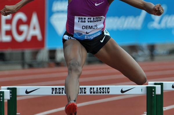 Another dominant win for Lashinda Demus, this time in Eugene (Kirby Lee)