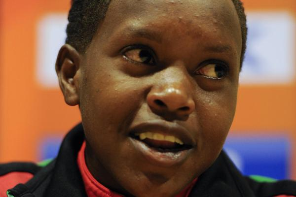 Faith Chepngetich Kipyegon of Kenya at the IAAF World Junior Championships Press Conference in Barcelona (Getty Images)