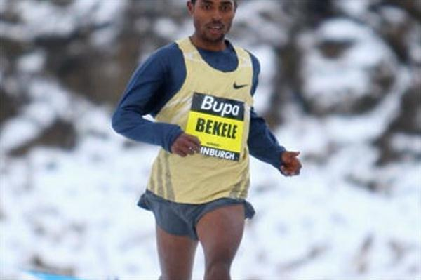 Kenenisa Bekele running in the BUPA Great Edinburgh International Cross Country - IAAF Permit - race (Getty Images)