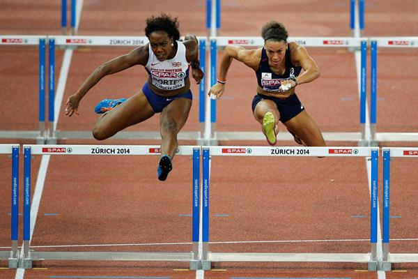 Tiffany Porter beats Cindy Billaud to win the European 100m hurdles title (Getty Images)