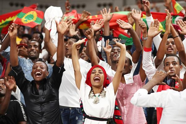 Ethiopian fans on the opening day of the IAAF World Athletics Championships Doha 2019 (Getty Images)