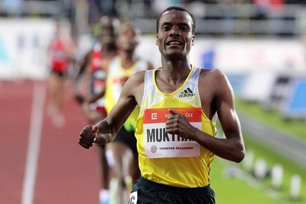 Muktar Edris wins the 5000m at the IAAF World Challenge meeting in Ostrava (Getty Images)