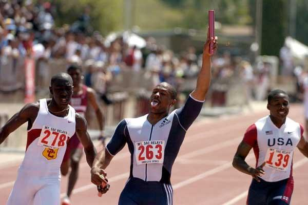 Maurice Greene anchors home HSI team in Mt SAC (Kirby Lee)