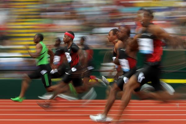 The men's 100m in Eugene (Getty Images)