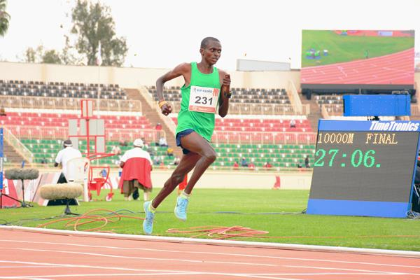 Paul Tanui on his way to winning the 10,000m at the Continental Tour Gold meeting in Nairobi (Organisers)