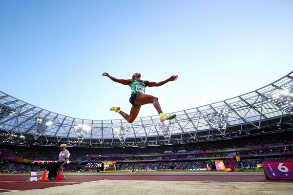 Ruswahl Samaai in action at the IAAF World Championships London 2017 (Getty Images)