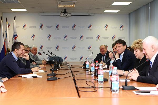 IAAF President Seb Coe meets with the All Russian Athletics Federation (ARAF)