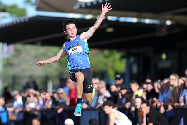 Australia's Jack Hale in action in the long jump (Getty Images)