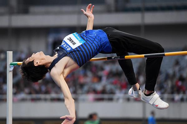 Wang Yu, winner of the high jump at the IAAF Diamond League meeting in Shanghai (Errol Anderson)