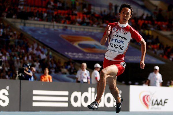 Japanese sprinter Kei Takase at the IAAF World Championships (Getty Images)