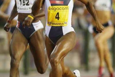 Tonique Williams-Darling wins the 400m in Brussels (Getty Images)