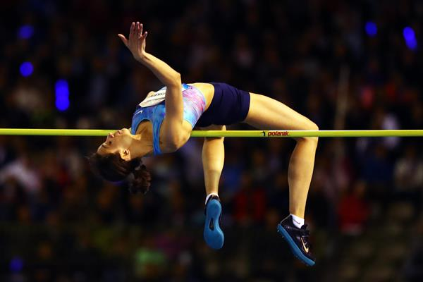 Maria Lasitskene competes at the IAAF Diamond League in Brussels (Getty Images)