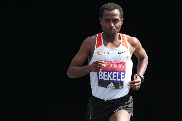 Kenenisa Bekele in action at the London Marathon (AFP / Getty Images)