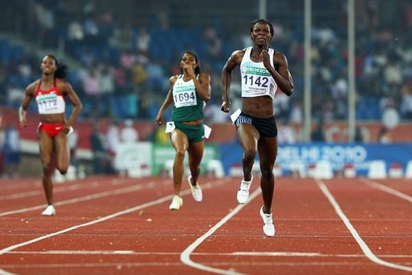 Commonwealth Games 400m record for Amantle Montsho in Delhi (Getty Images)