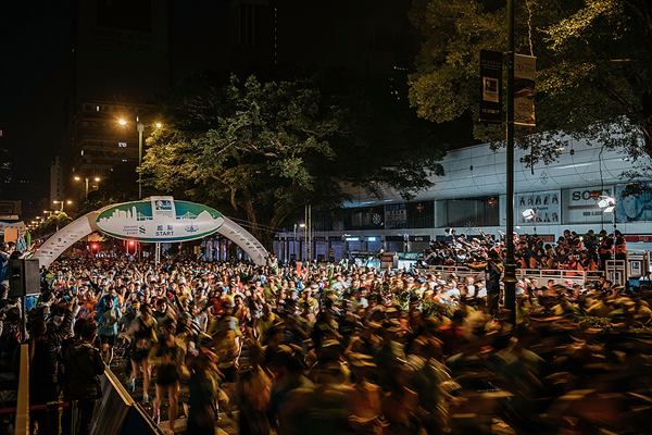 The start of the Hong Kong Marathon (Getty Images)