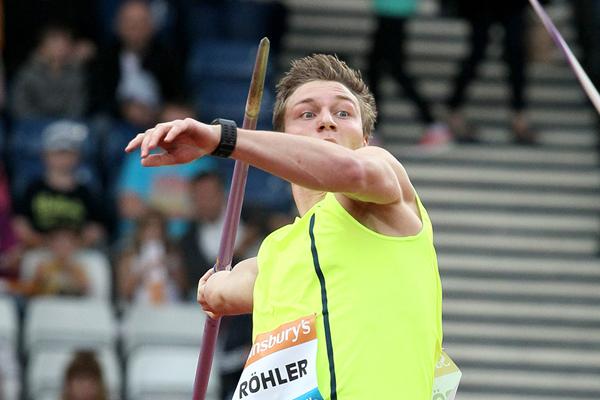 Thomas Rohler wins the javelin at the IAAF Diamond League meeting in Glasgow (Victah Sailer)