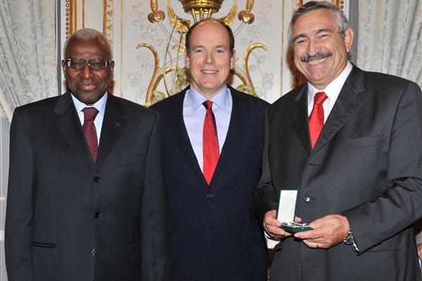 Lamine Diack, HSH Prince Albert II, Pierre Weiss (Gaëtan Luci)