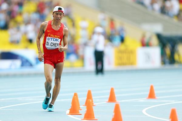 Chen Ding of China in the 20km Race Walk at the 2013 IAAF World Championships in Moscow (Getty Images)