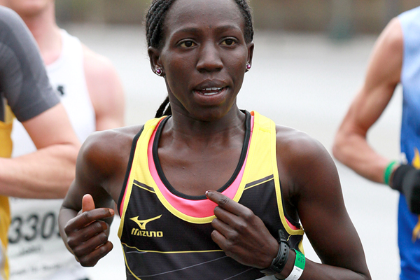 Cynthia Chepchirchir Kosgei on her way to winning the Berlin Half Marathon (Victah Sailer / organisers)