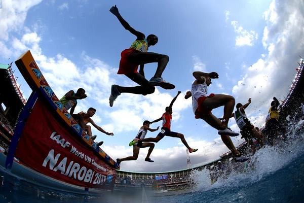 The boys' 2000m steeplechase final at the IAAF World U18 Championships Nairobi 2017 (Getty Images)