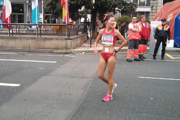 Qieyang Shenjie after her victory in La Coruna (Luis Gómez)
