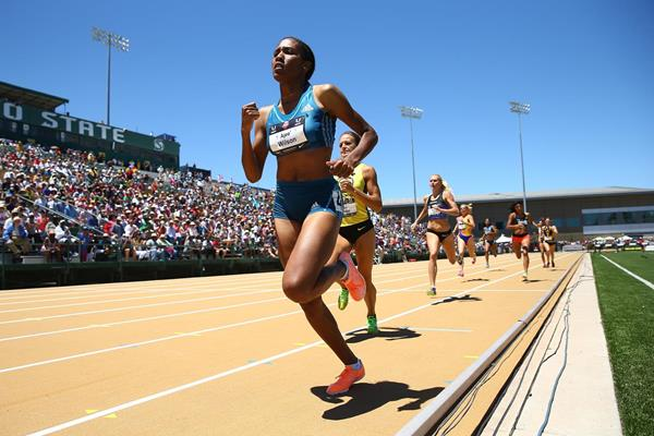 Ajee Wilson on her way to winning the US 800m title (Getty Images)
