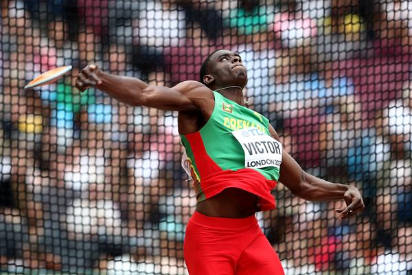 Lindon Victor in the decathlon discus at the IAAF World Championships London 2017 (Getty Images)